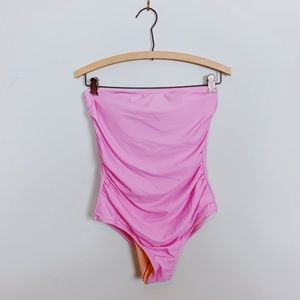 NWT J Crew Factory Swimsuit One-piece Pink Ruching